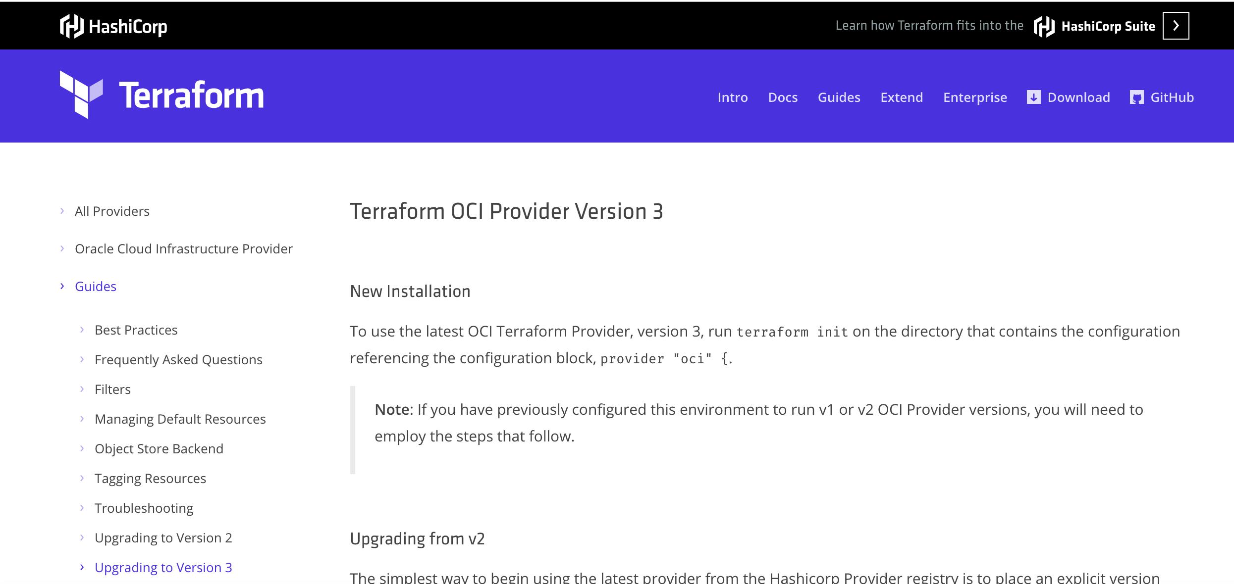 Terraform_OCI_Provider_Version_3